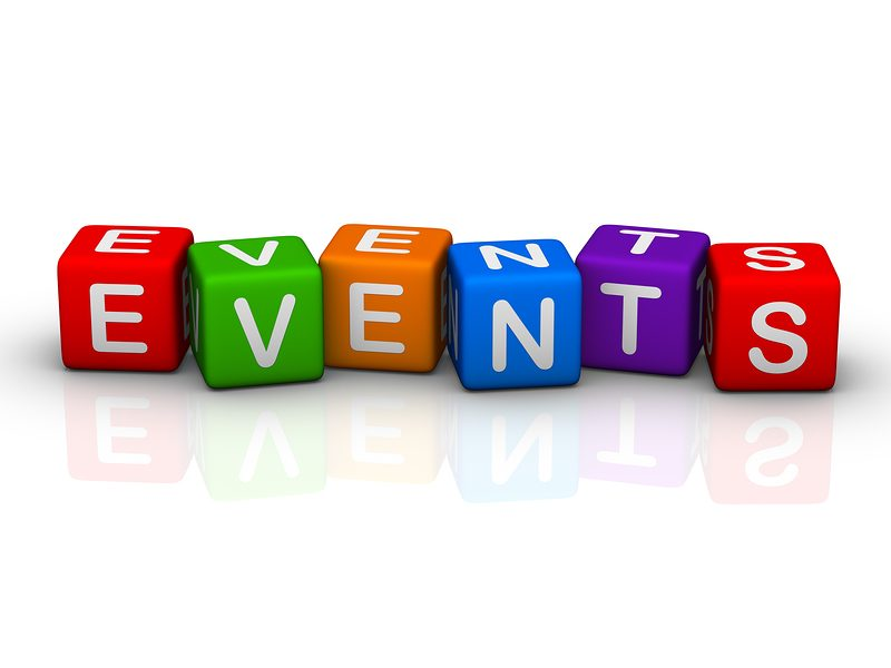 events (buzzword colorful cubes series)